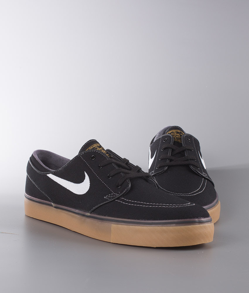 Nike Zoom Stefan Janoski Cnvs Shoes Black White-Metallic Gold-Gum ... b720094f40