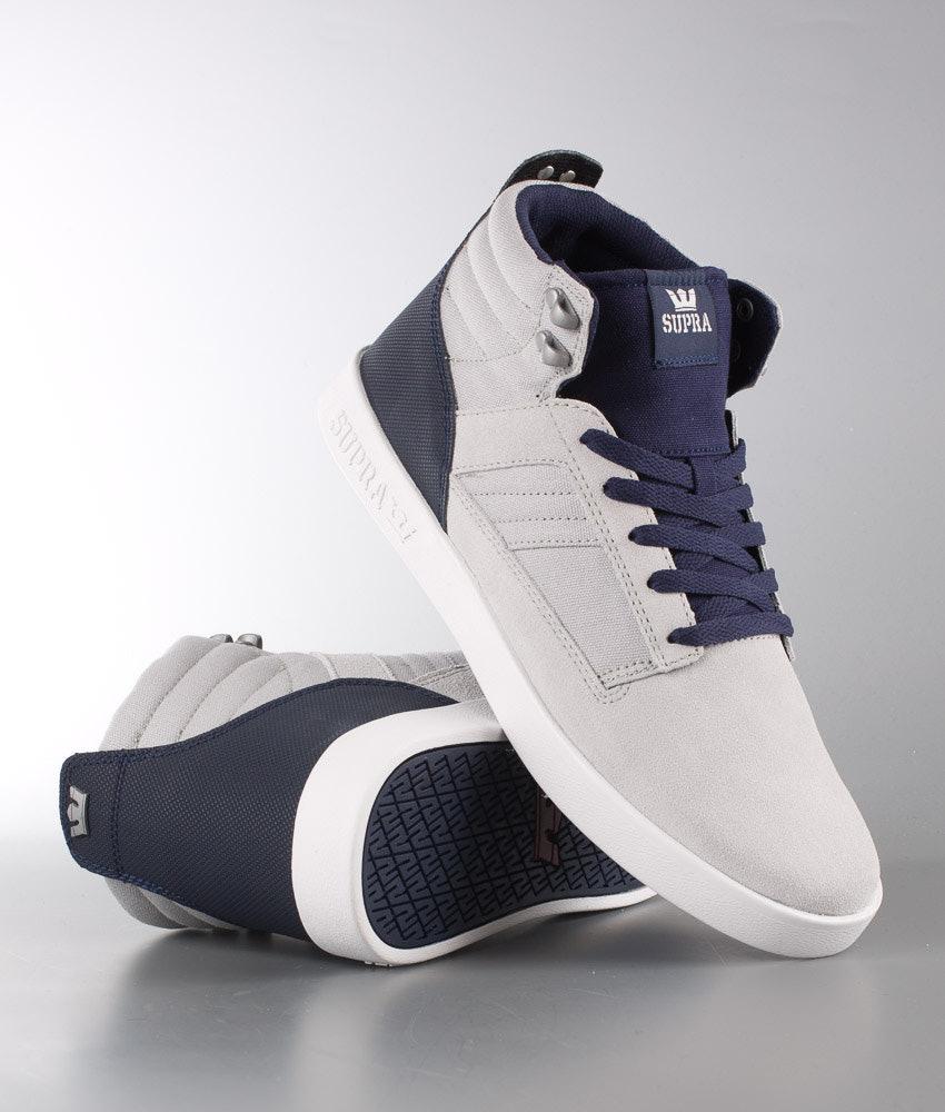 39fc4f10850b Supra Bandit Shoes Light Grey Charc-White Grey Navy-White ...
