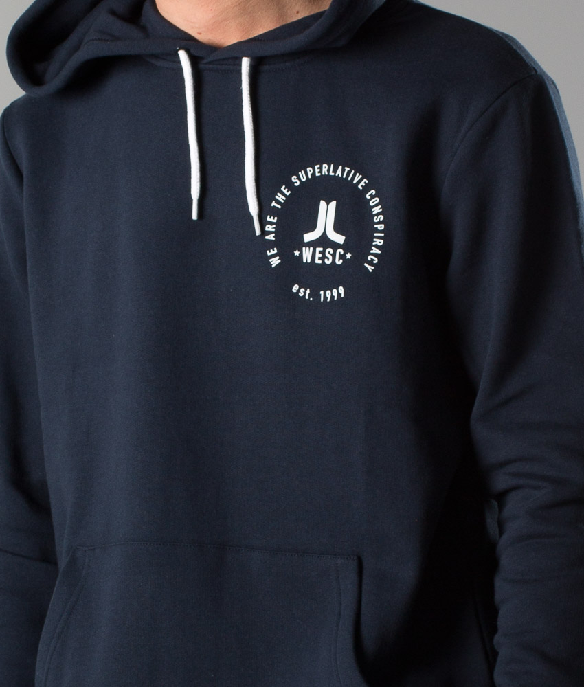 WeSC Icon Navy Pullover Hoodie