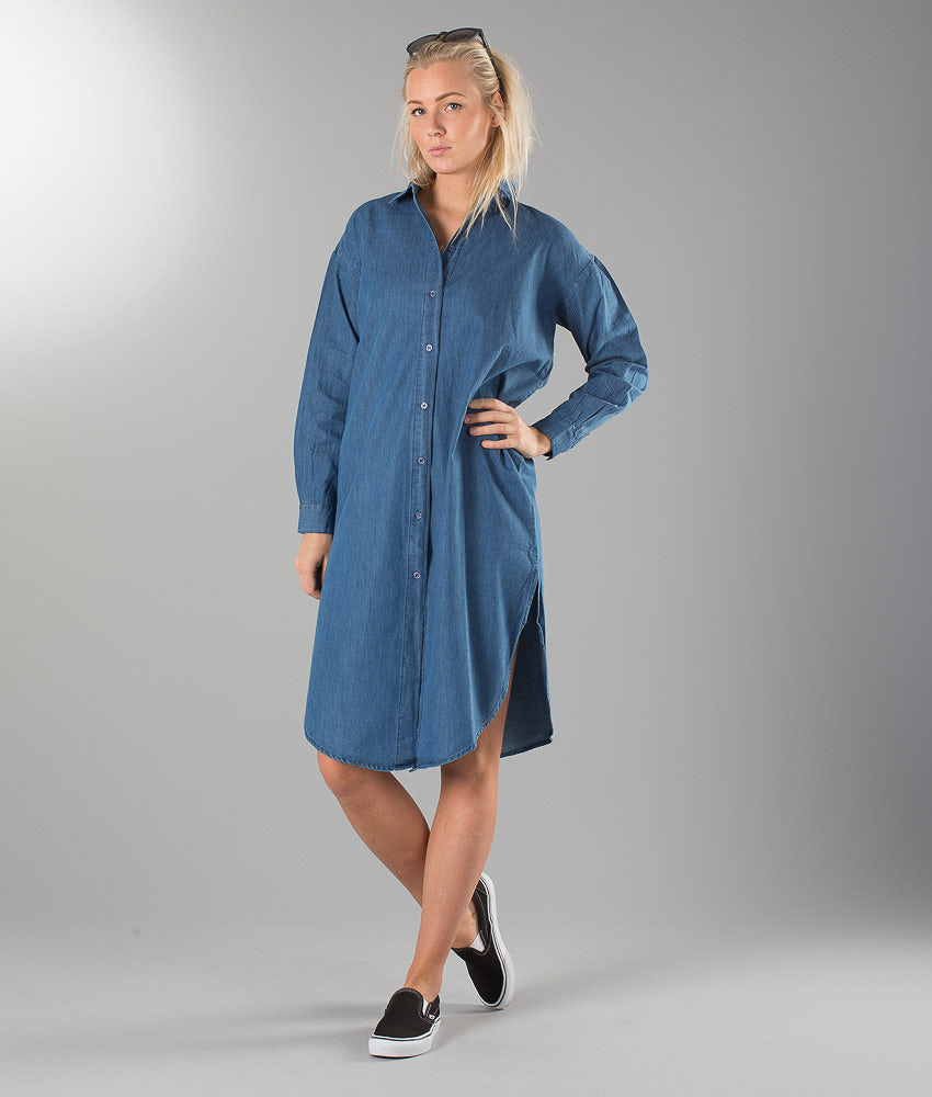 Sweet Denim Damita Dress Denim Blue