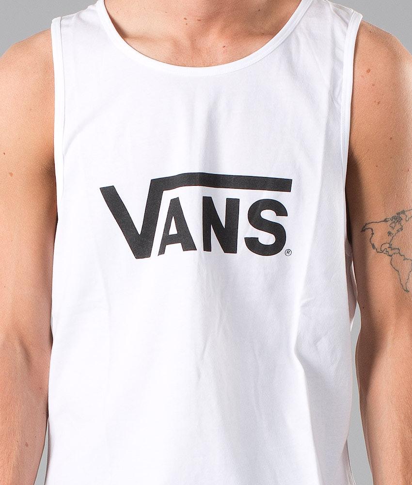 050304dd26a418 Vans Vans Classic Tank top White Black - Ridestore.com