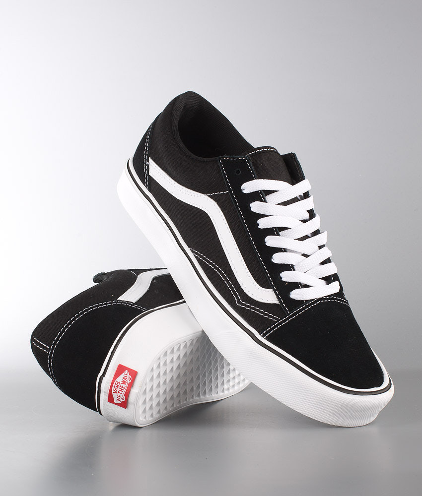 c011d19edc Vans Old Skool Lite + Shoes (Suede Canvas) Black White - Ridestore.com