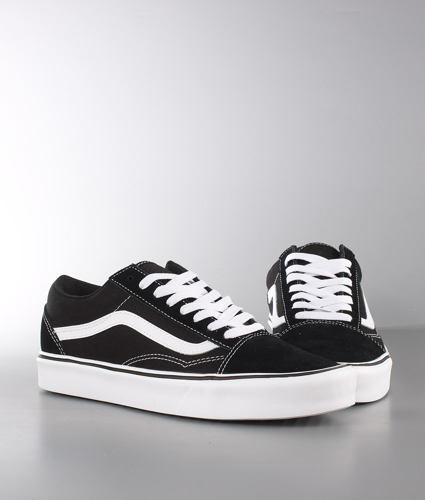48d2edc0aa Vans Old Skool Lite + Shoes (Suede Canvas) Black White - Ridestore.com