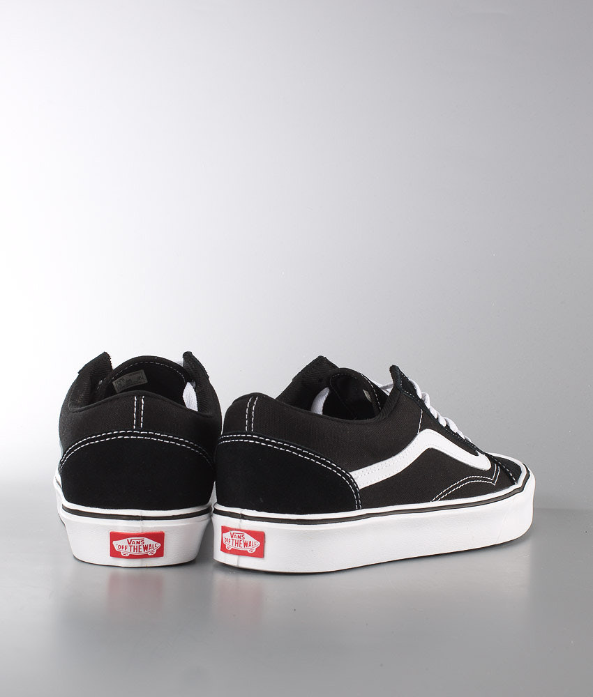 ea078ae6b88 Vans Old Skool Lite + Shoes (Suede Canvas) Black White - Ridestore.com