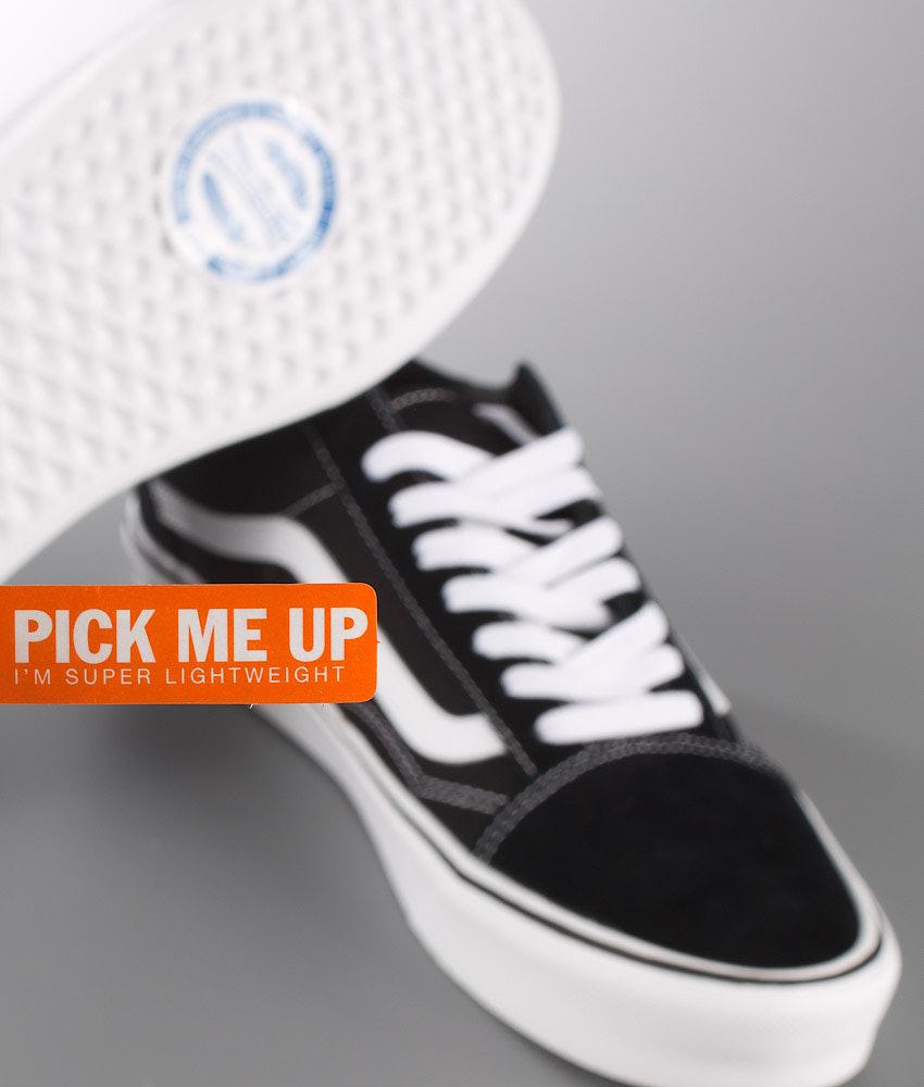 e2945de063d Vans Old Skool Lite + Shoes (Suede Canvas) Black White - Ridestore.com
