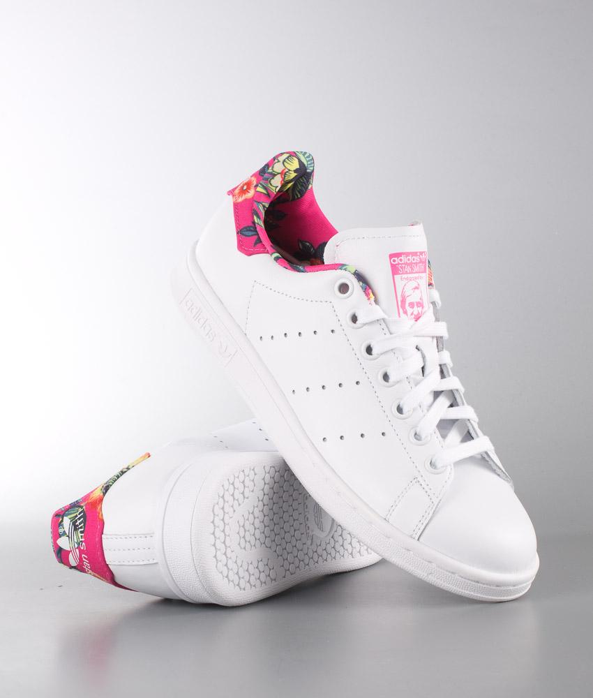 Adidas Originals Stan Smith Shoes WhiteRay Pink