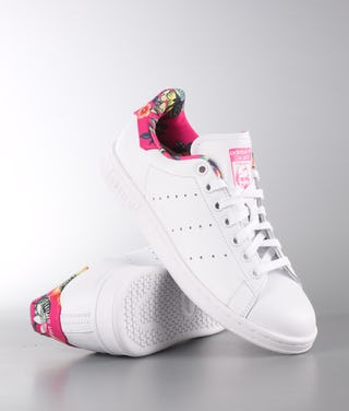 check out 65378 1bc2a Adidas Originals Stan Smith Shoes Ftw White/Ftw White/Ray Pink