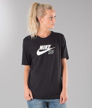 presenting most popular look good shoes sale Nike SB Dri-Fit Icon Logo Unisex T-shirt Black/White/Tumbled Grey
