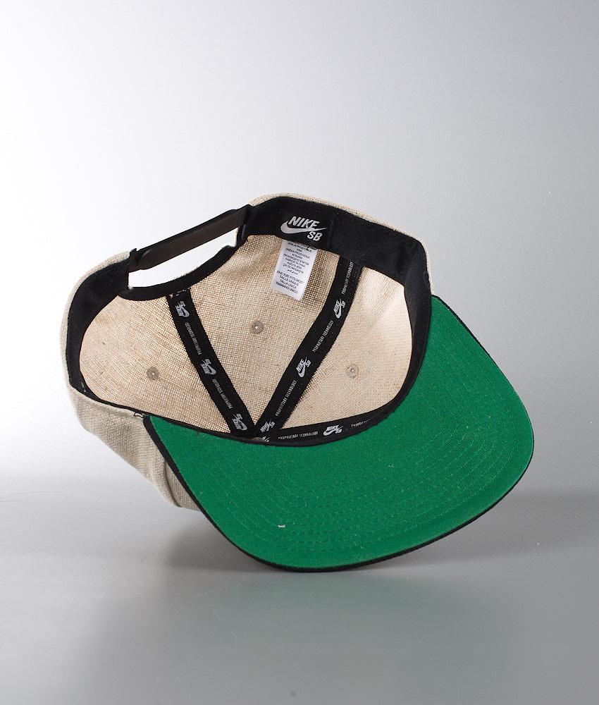 de70793eab2 Nike SB S+ Hemp Pro Cap Bamboo Black Pine Green Black - Ridestore.com