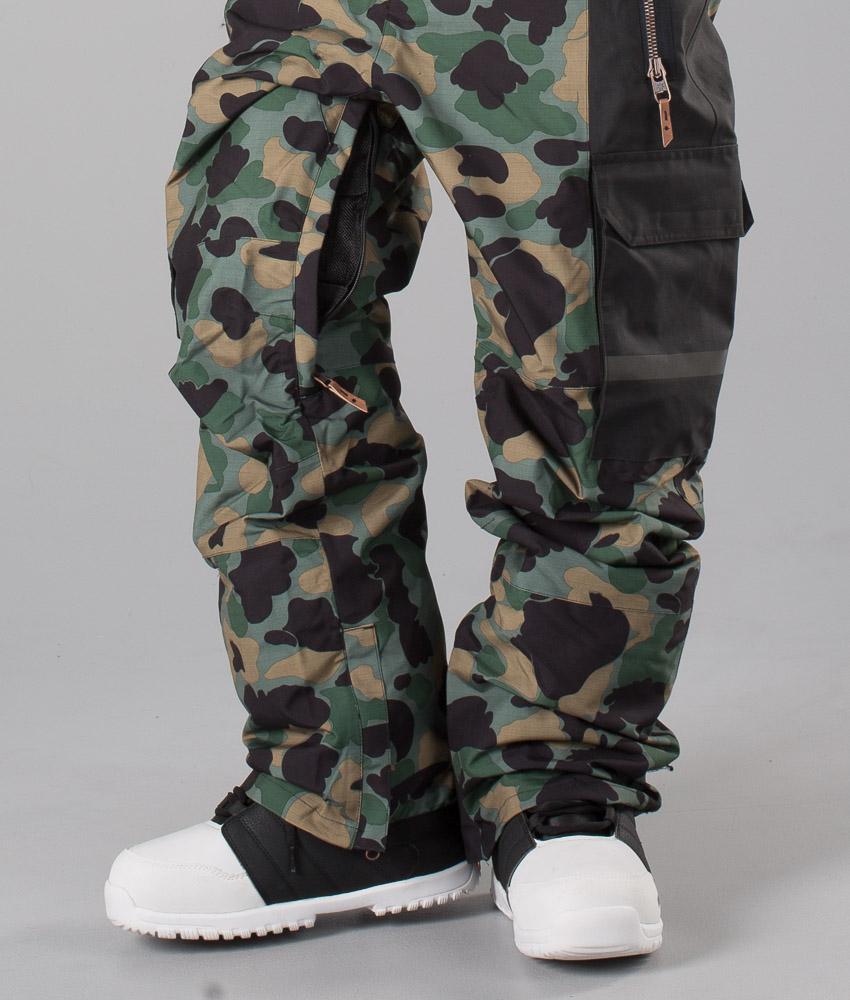 Camouflage Snowboard Platoon Bib Chez De Lodge Dc Men Pantalon Yxz144T