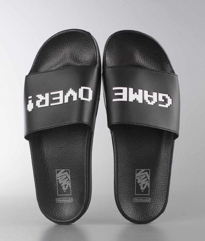32b2389d878 Vans Slide-On Sandal (NINTENDO) Black - Ridestore.com