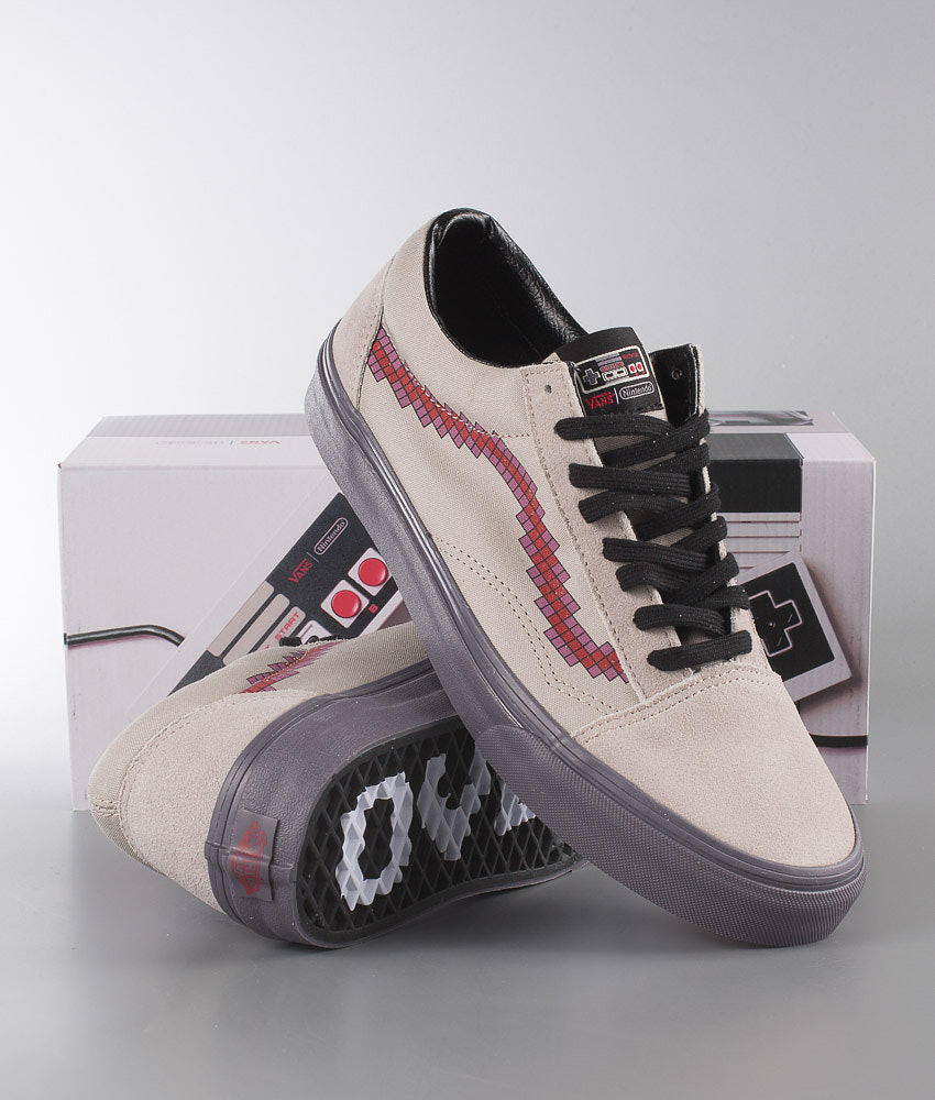 Vans Old Skool Shoes (NINTENDO) Console Dove - Ridestore.com 1459f58caf94f