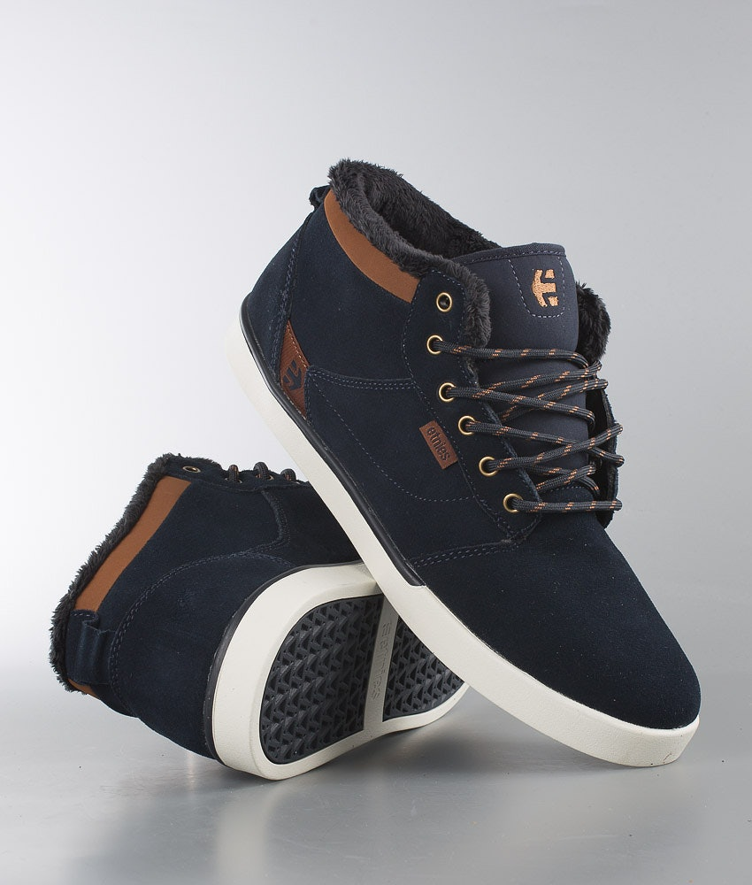 Etnies Jefferson Mid Shoes Navy/Brown/White
