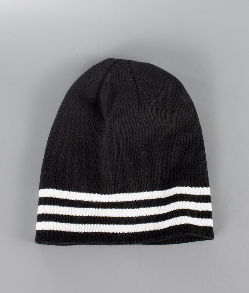 Adidas Originals Rib Logo Beanie Beanie Black White - Ridestore.com 628fc882858
