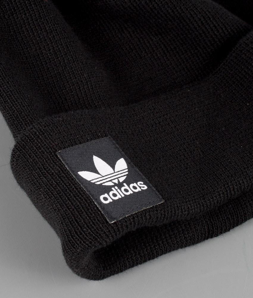 1537257b1c848 Adidas Originals Rib Logo Beanie Beanie Black White - Ridestore.com