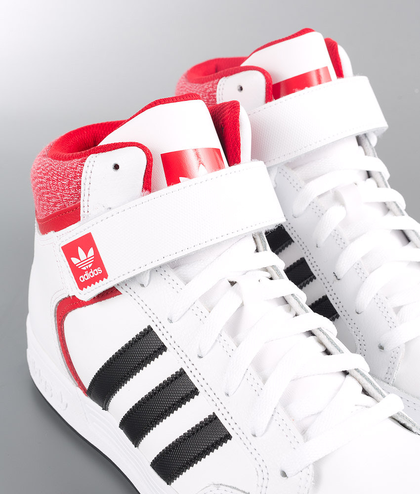 56ed7af2a5d Adidas Originals Varial Mid Shoes Ftwwht/Cblack/Scarle - Ridestore.com