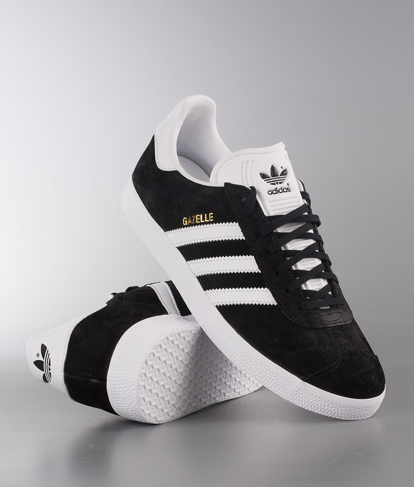 Adidas Originals Gazelle Sko Core Black/White/Goldmt