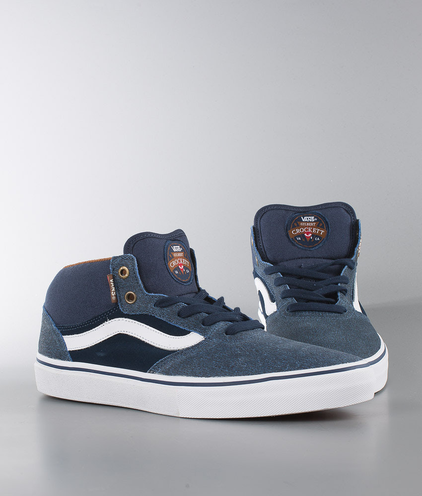 b1d0e67c66 Vans Gilbert Crockett Pro Mid Shoes (Xtuff) Dress Blues - Ridestore.com
