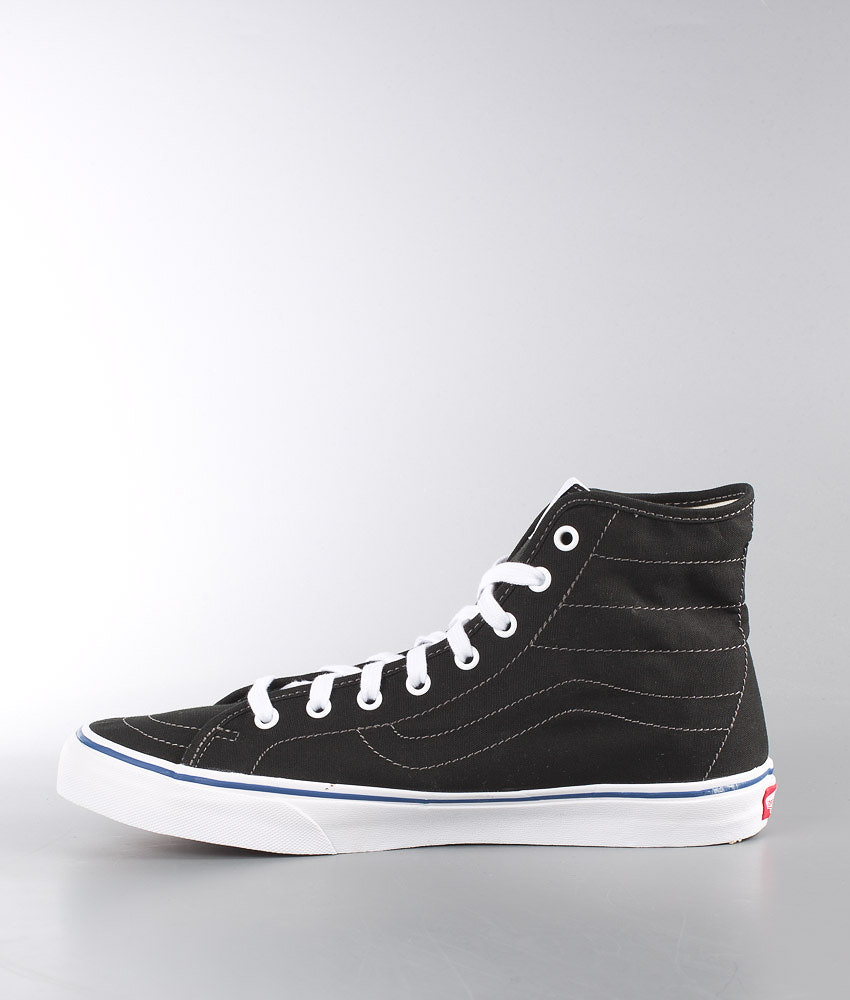 59817bebc79902 Vans SK8-Hi Decon Shoes (Canvas) Black True White - Ridestore.com