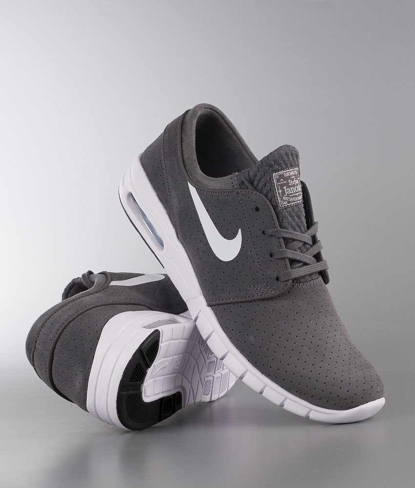 49b4a8dbe86684 Nike Stefan Janoski Max L Shoes Dark Grey White-Black-White ...