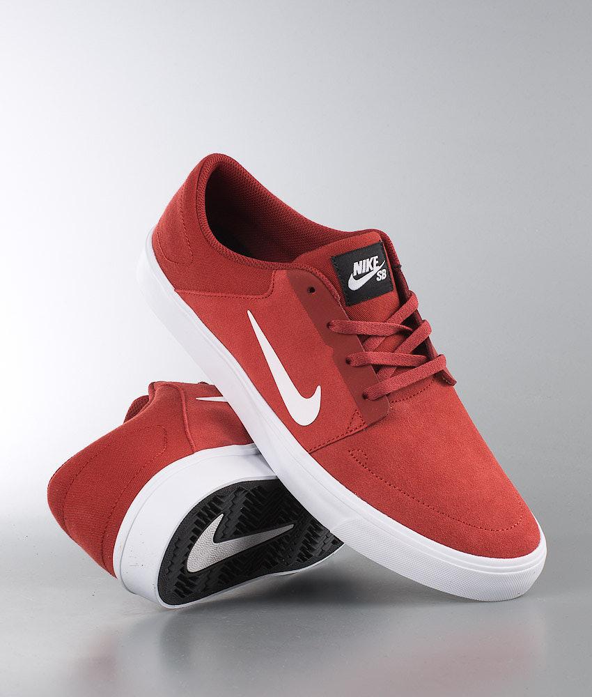1b2747a370f5 Nike SB Portmore Shoes Dark Cayenne White-Black - Ridestore.com