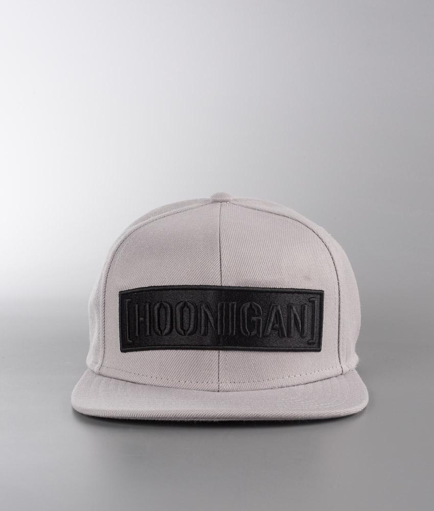 NEW UK white Hoonigan Censor Bar Snapback Baseball Cap Grey with black