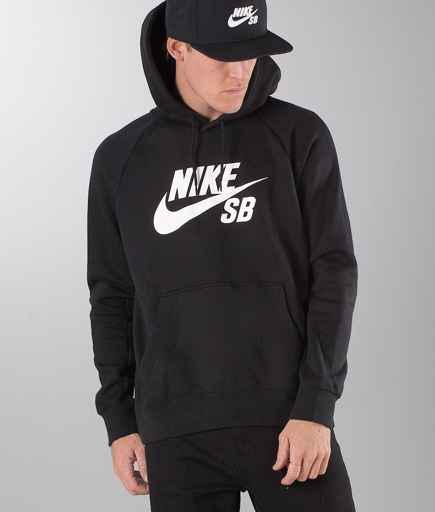 6bf2462c791b1 Nike Sb Icon Hoodie Black/White - Ridestore.com