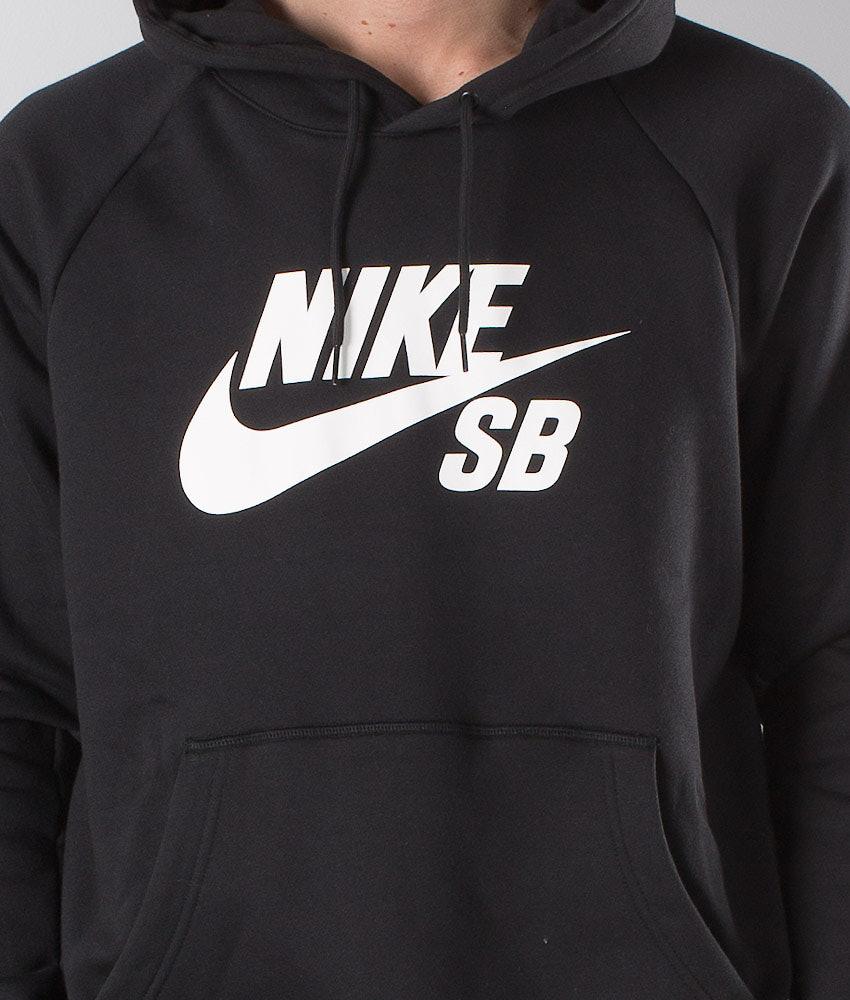 Nike Sb Icon Huppari Black White - Ridestore.fi 33e283557a
