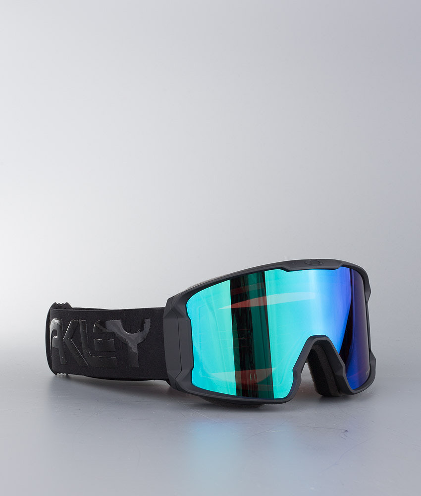 Oakley Line Miner Ski Goggle Factory Pilot Blackout W/ Prizm Goggle Jade Irid