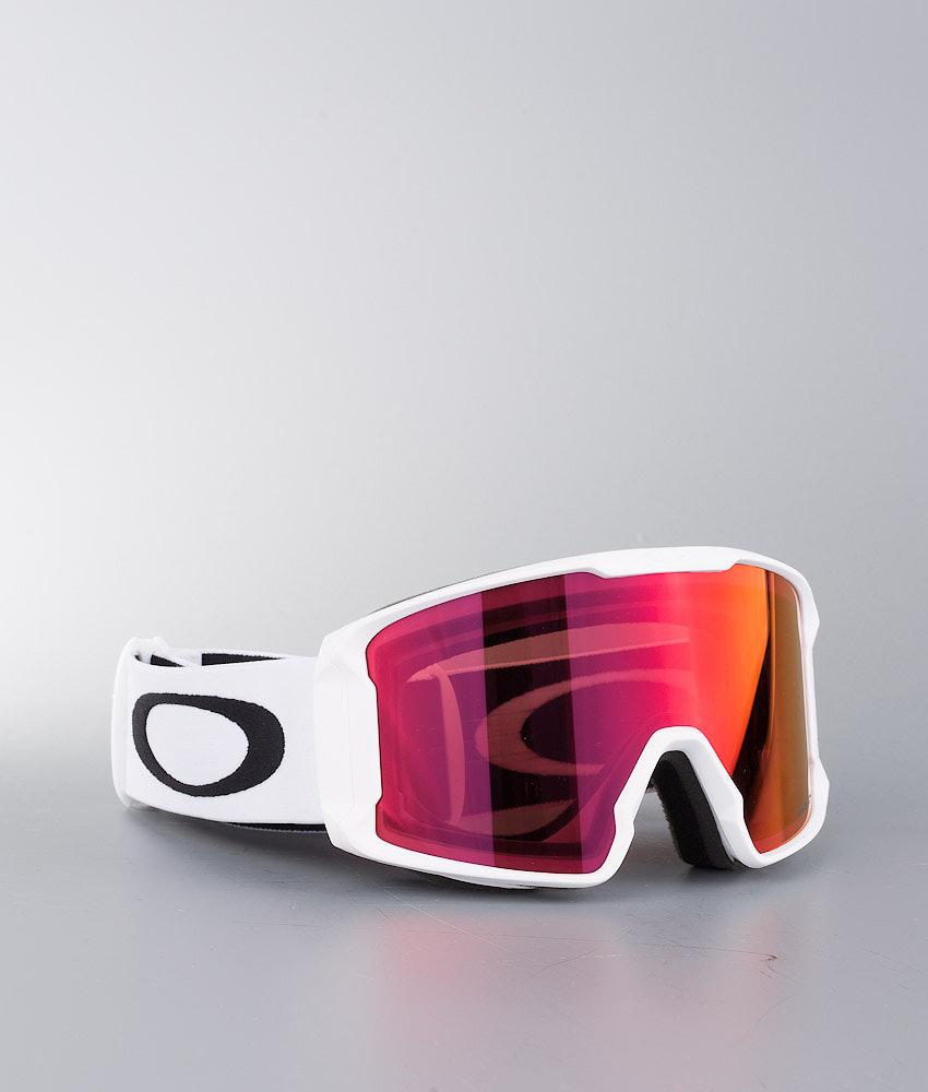 Oakley Line Miner Masque de ski Matte White W/ Prizm Torch