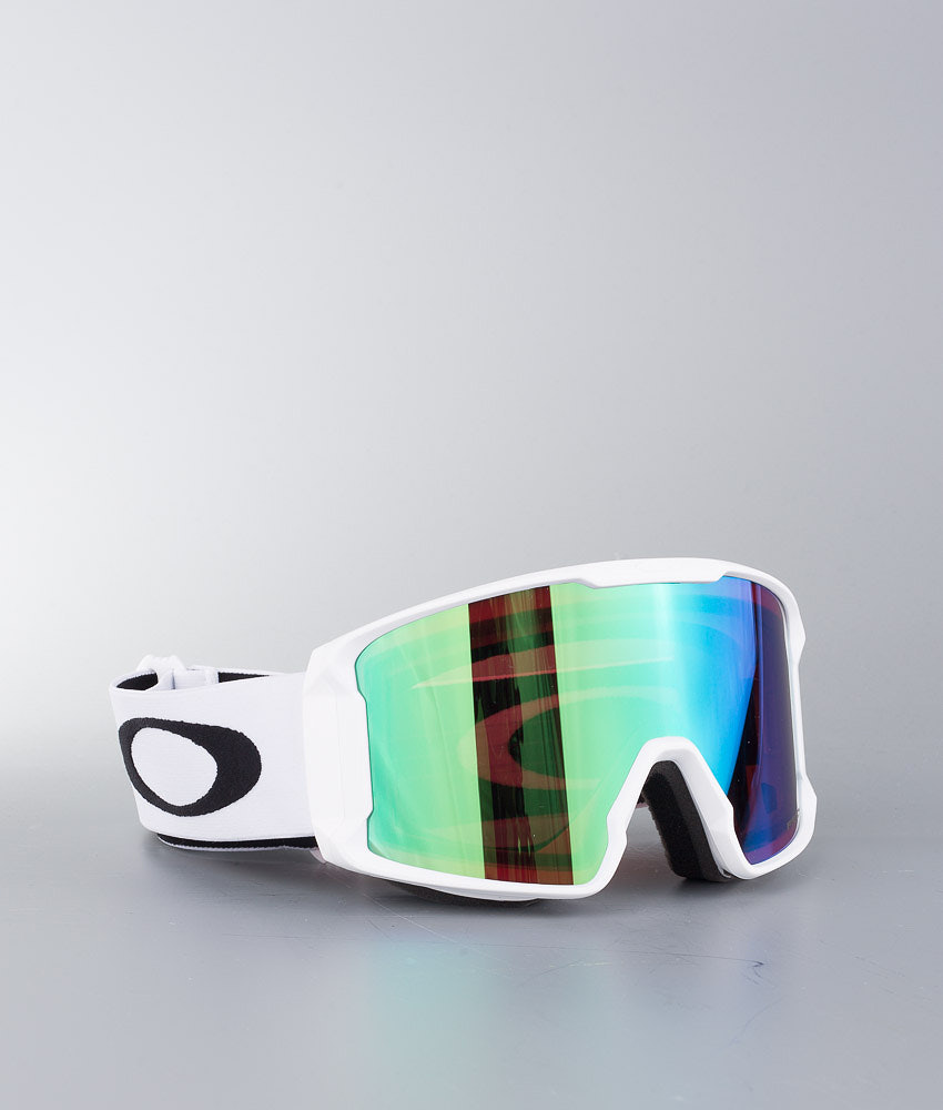 Oakley Line Miner Ski Goggle Matte White W/ Prizm Goggle Jade Irid
