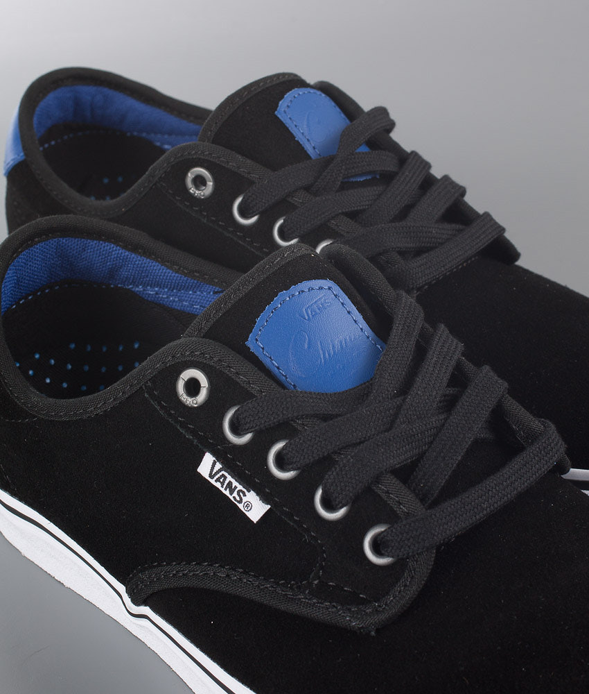 f16332d593 Vans Chima Ferguson Pro Shoes (Real Skateboards) Black True Blue ...