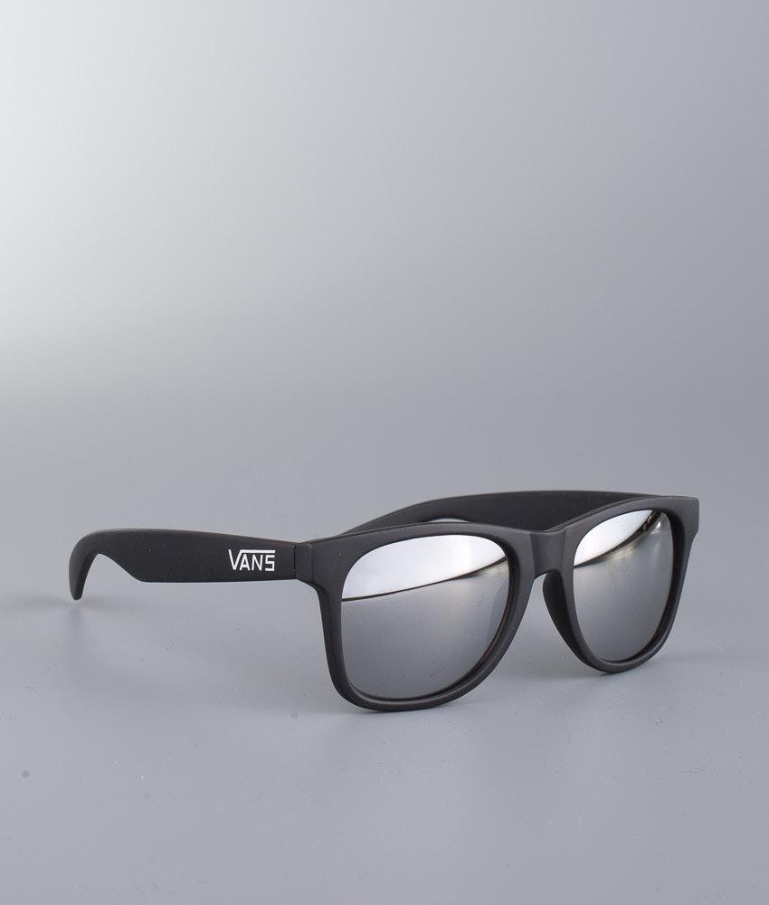 5c1e70b24b58f4 Vans Spicoli 4 Sunglasses Matte Black Silver Mirror - Ridestore.com