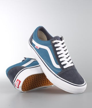 quite nice great discount sale hot sales Vans Old Skool Pro Shoes Navy/Stv Navy/White