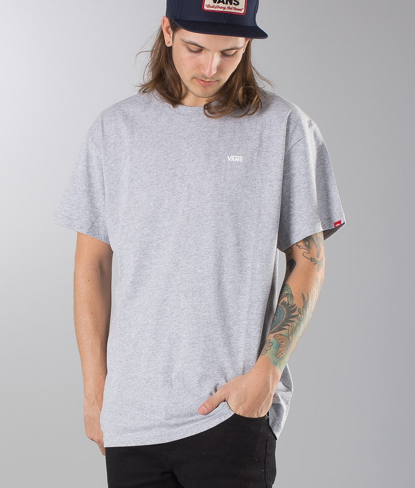 Vans Left Chest Logo Tee T-shirt Athletic Heather