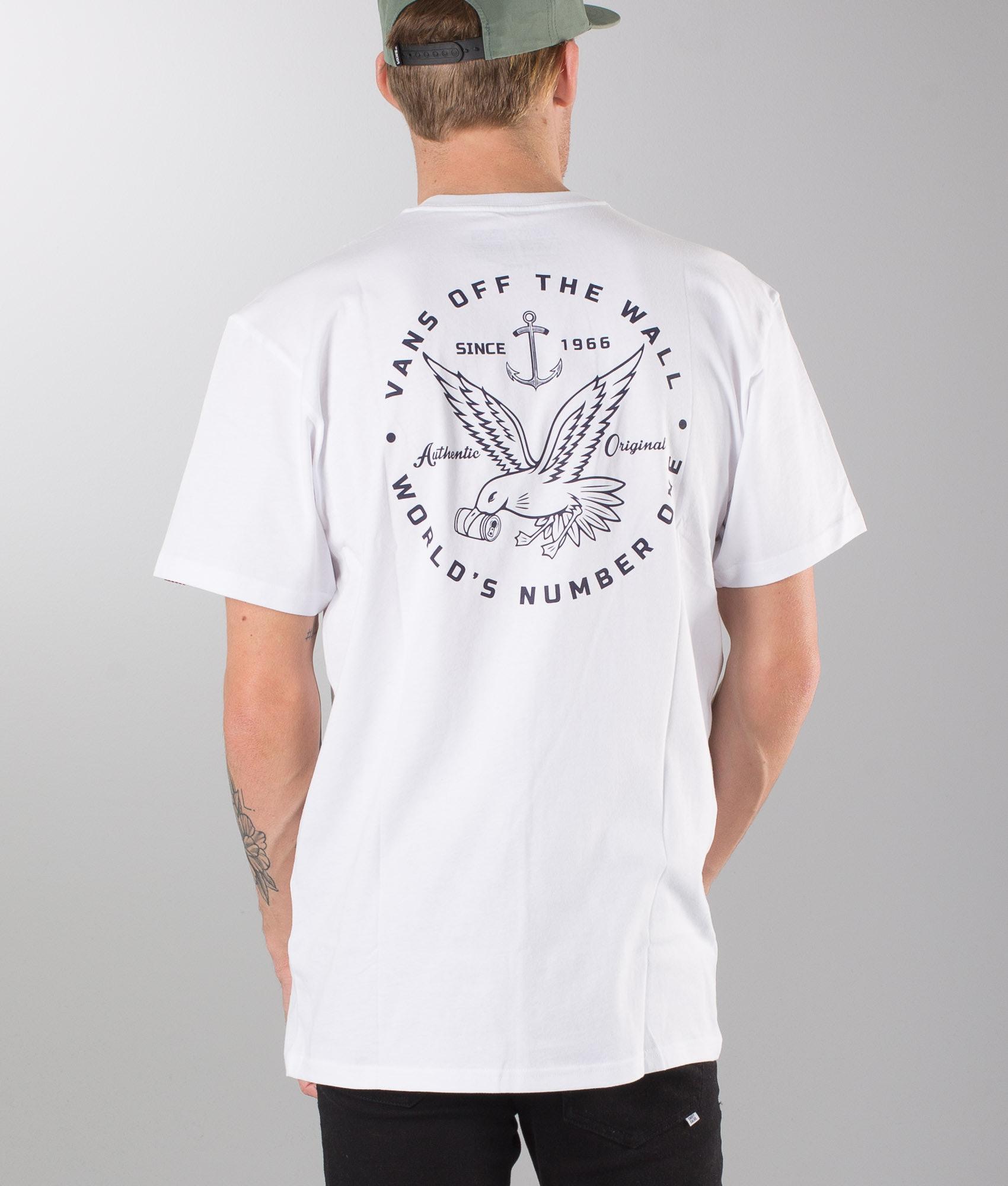 74018ca59b7d96 Vans Animal Control T-shirt White - Ridestore.com