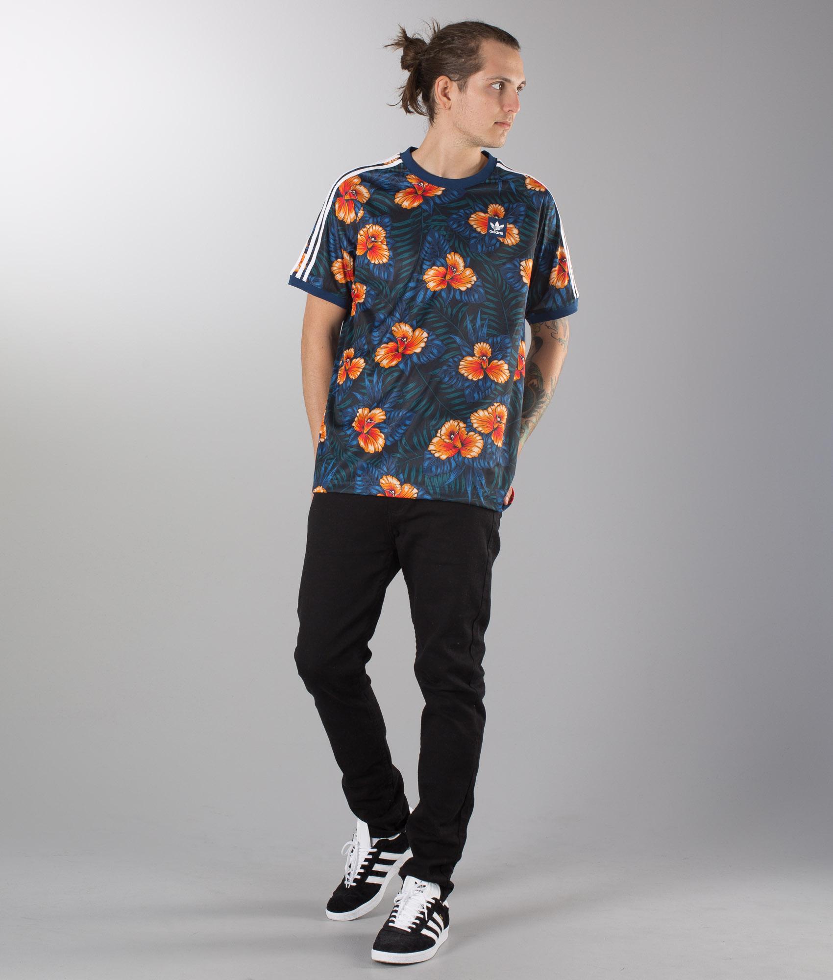 adidas floral t shirt
