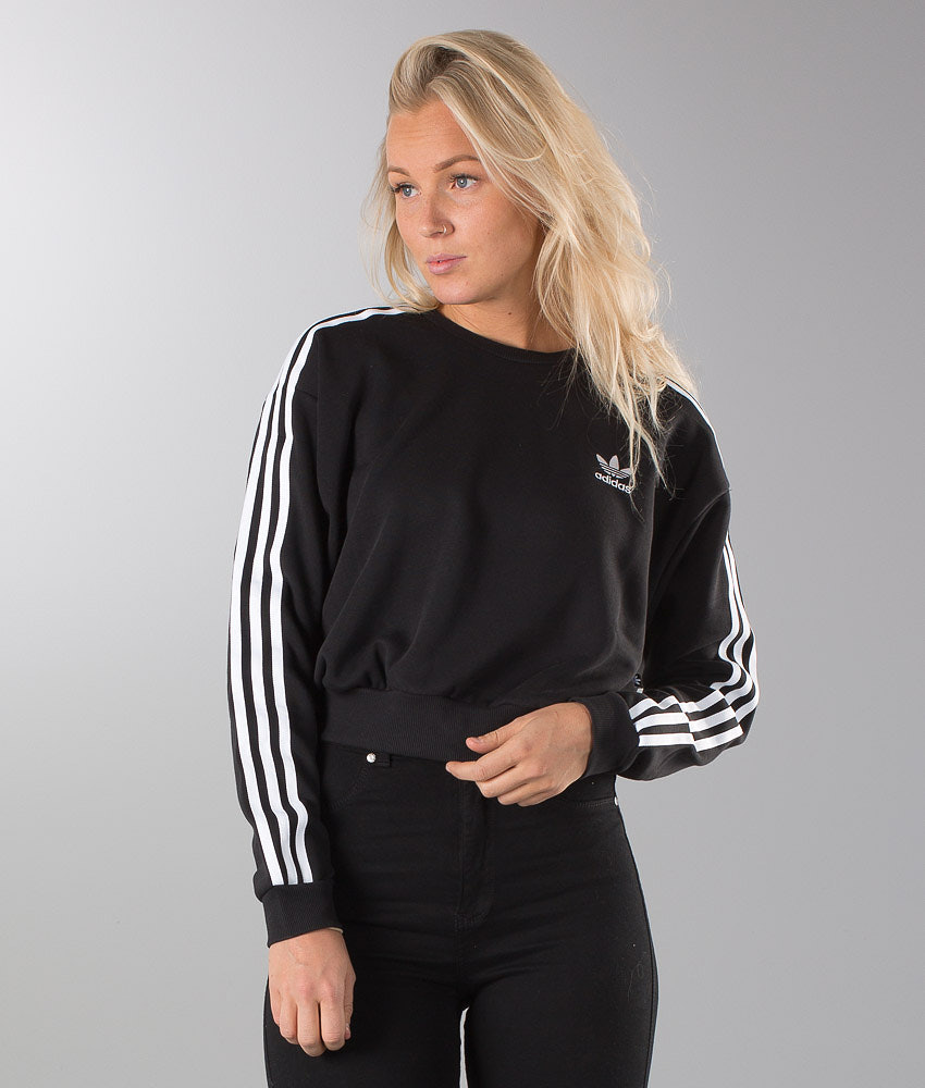 348d7f164a59 Adidas Originals 3S Crop Felpa Black Noir - Ridestore.it