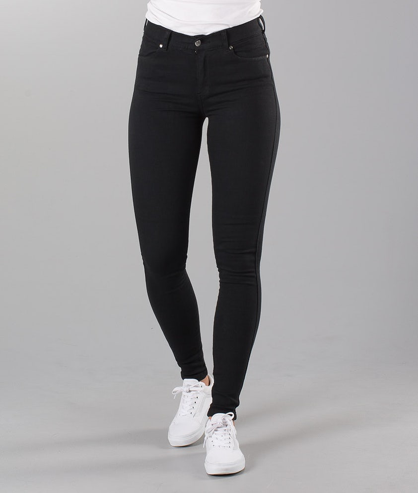 Dr Denim Lexy Pantaloni Black