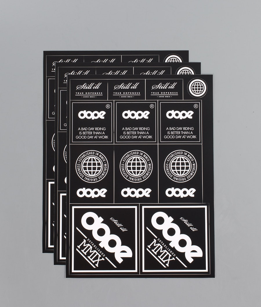 Dope Patch X 3 Stickers Black/White