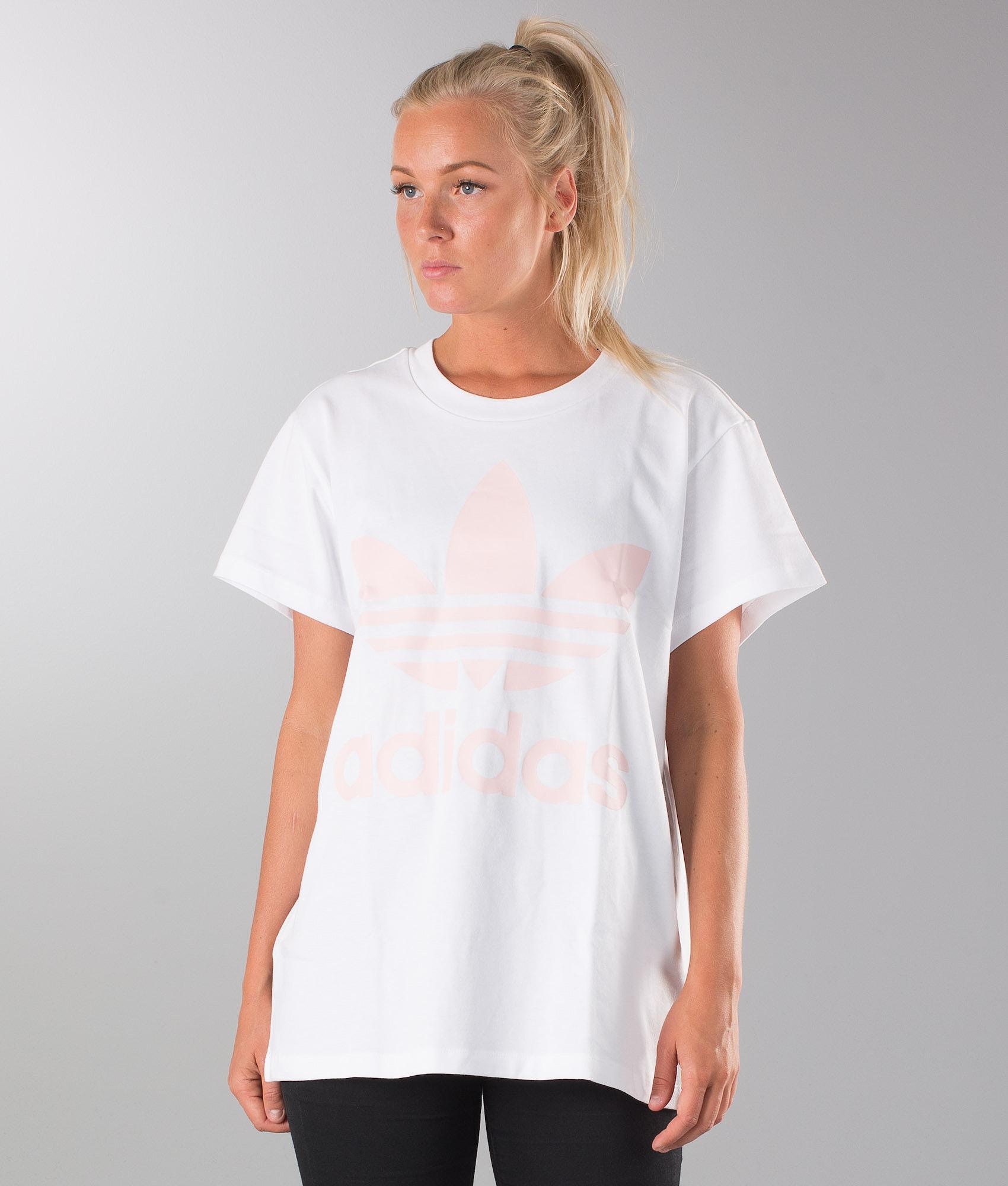 63627a1bf60c Adidas Originals Big Trefoil T-shirt White Ice Pink - Ridestore.com