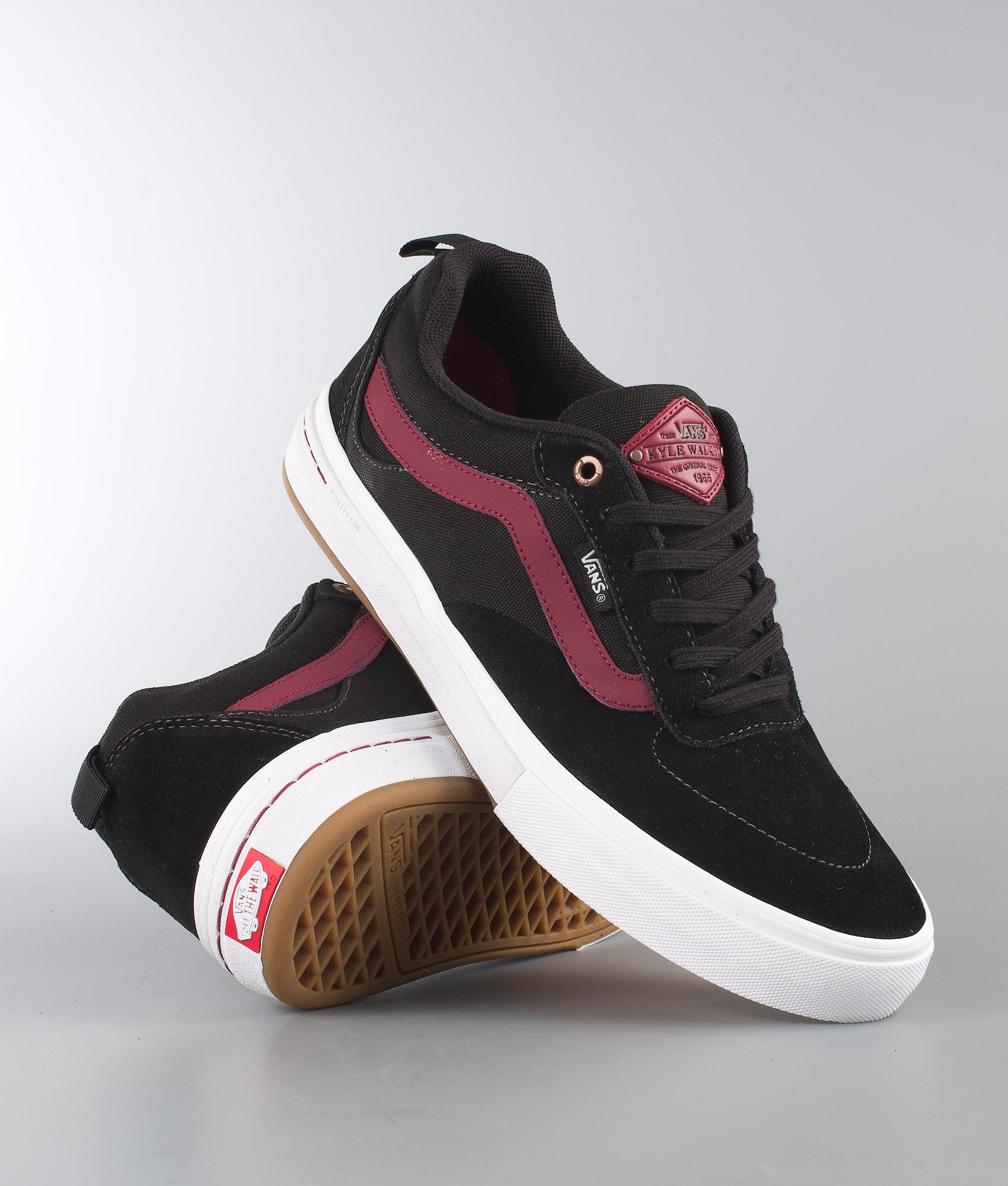 52827d8160c Vans Kyle Walker Pro Shoes Black Tibetan Red - Ridestore.com