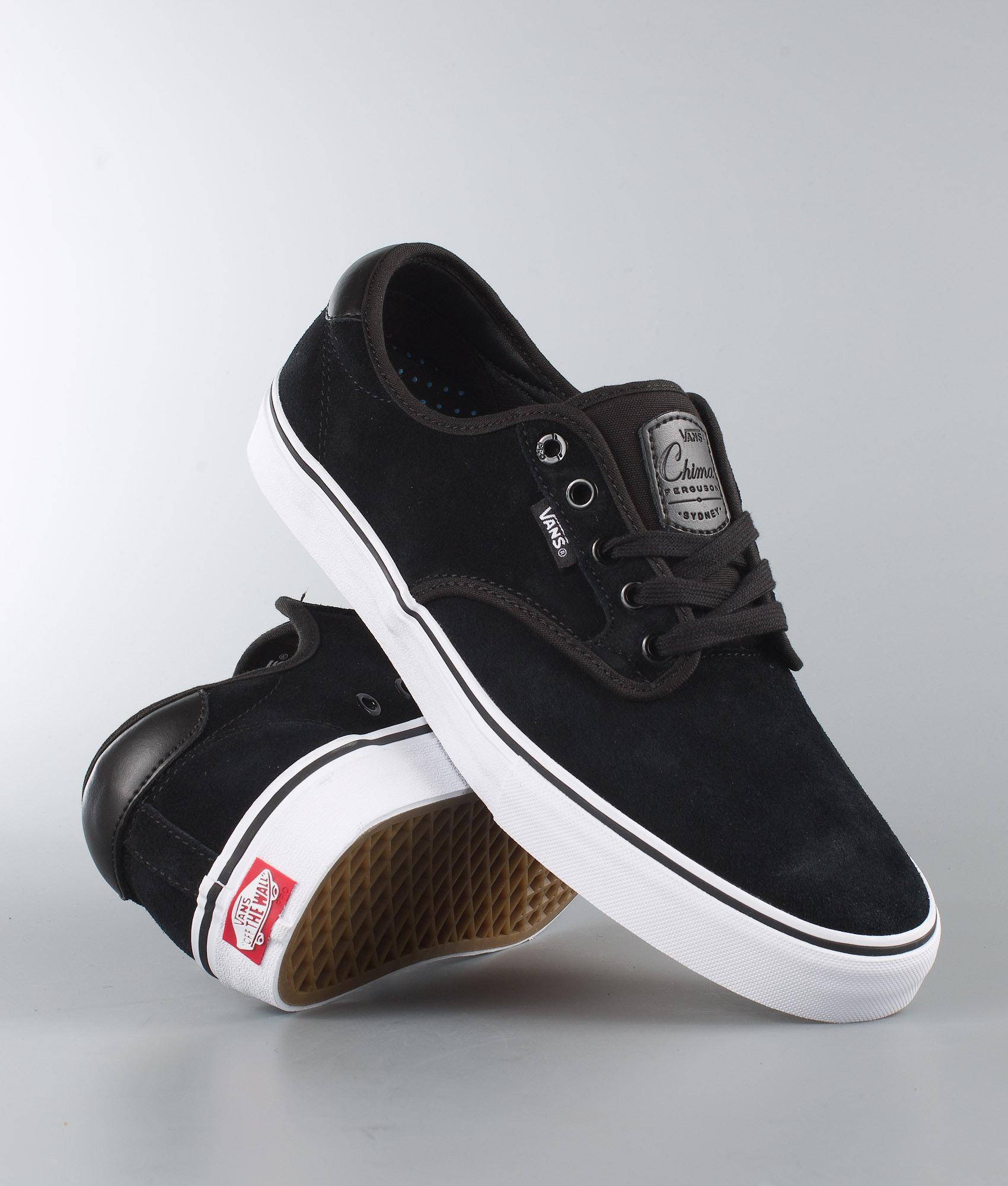 Vans Chima Ferguson Pro Shoes (Suede) Black White - Ridestore.com cb8d9c89c18e