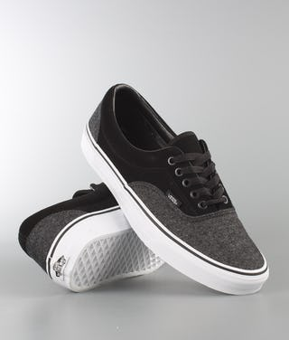 uk availability ad3b6 35c50 Vans Era Shoes (Suede & Suiting) Black