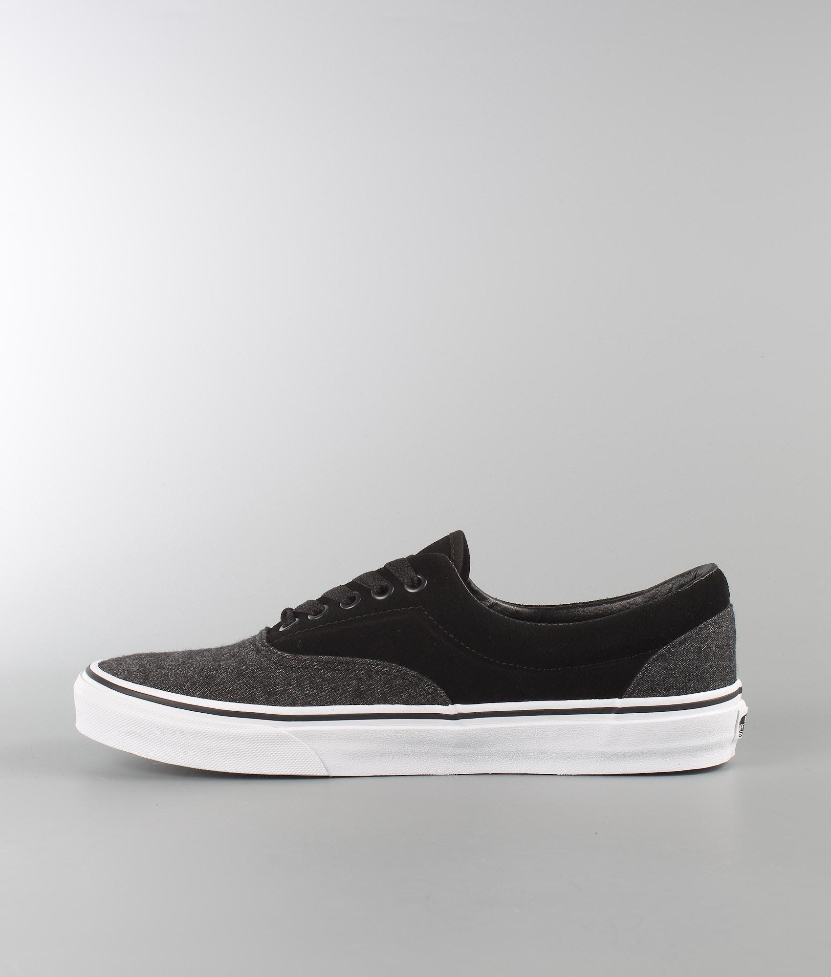 e83b946217def7 Vans Era Shoes (Suede   Suiting) Black - Ridestore.com