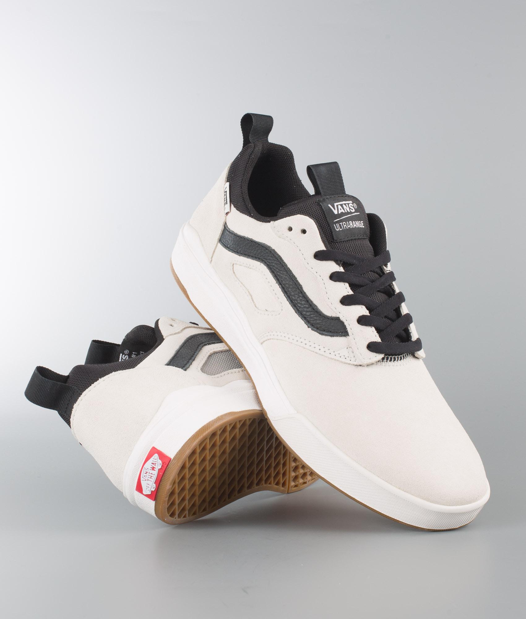 82117603ea Vans Ultrarange Pro Shoes Blanc Black - Ridestore.com