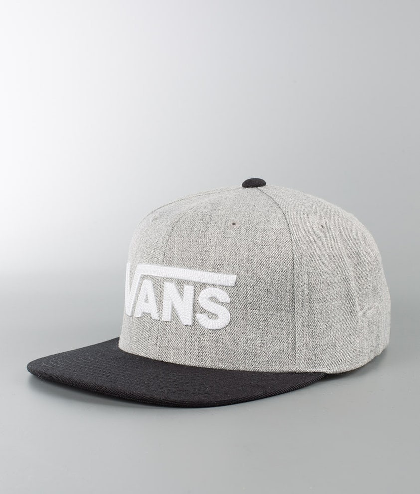Vans Drop V II Snapback Caps Heather Grey/Black