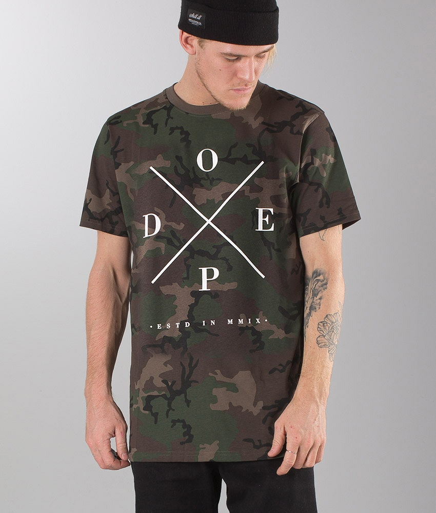 Dope 2X-Up T-shirt Woodcamo