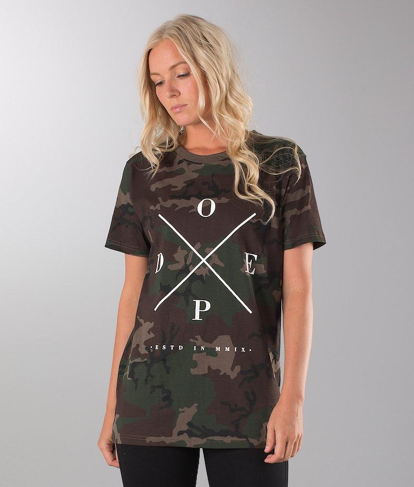Dope 2X-Up Unisex T-shirt Woodcamo