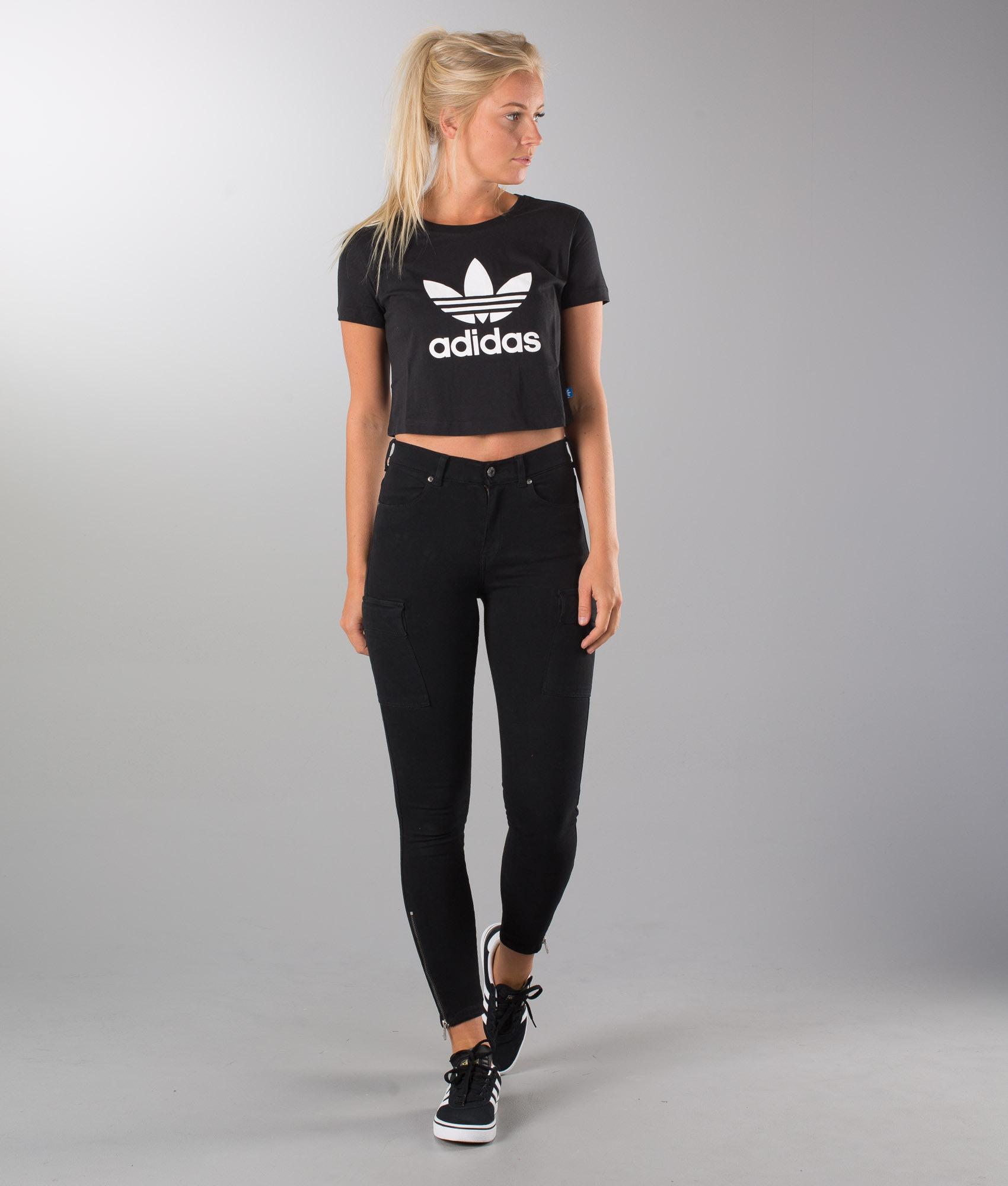 80281cc76c67 Adidas Originals Slim Crop T-shirt Black - Ridestore.com